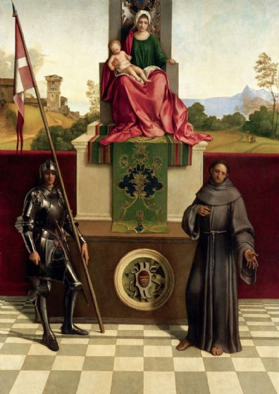 Giorgione (Giorgio da Castelfranco): Madonna and Child with Saints Liberale and Francis. Fine Art Print/Poster. Sizes: A4/A3/A2/A1 (001928)